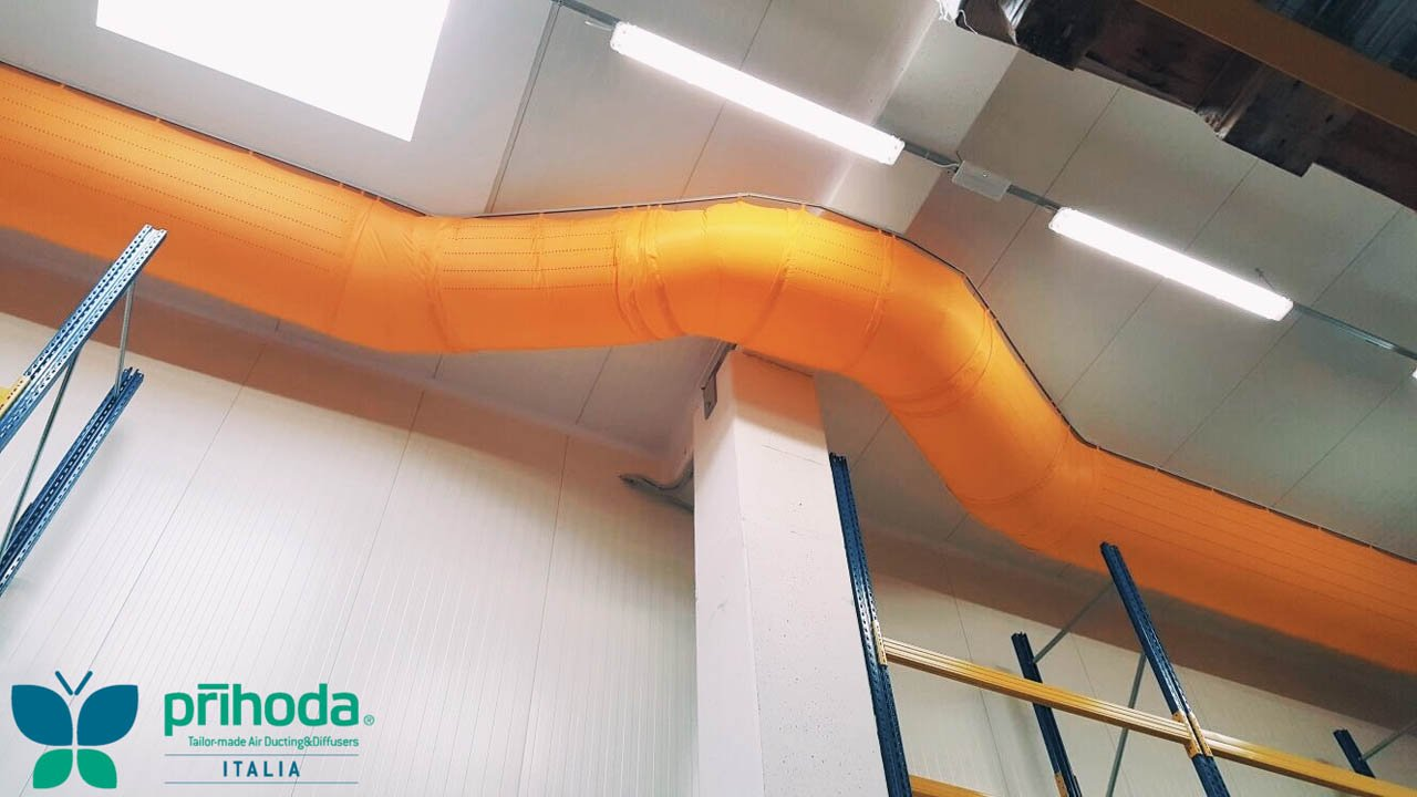 Diffusori Lineari Aria Condizionata diffusori in tessuto per impianti di climatizzazione